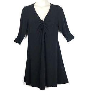 Lane Bryant Women 14 Black Dress V Neck